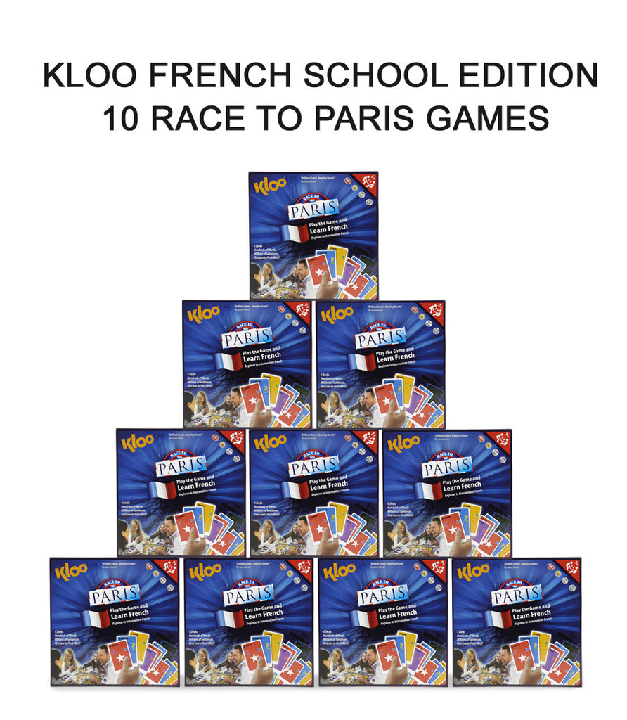 KLOO's Learn French MFL Games - Schools Gold Pack - 10 x Race to Paris Board Games