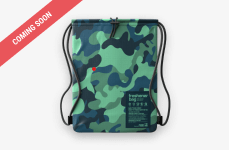 "A SmellWell Freshener Bag - Camo Green from the front. ""Coming soon"" banner in the top left corner"