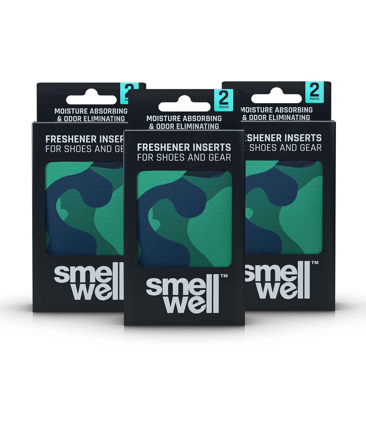 3 packages of SmellWell Active - Camo