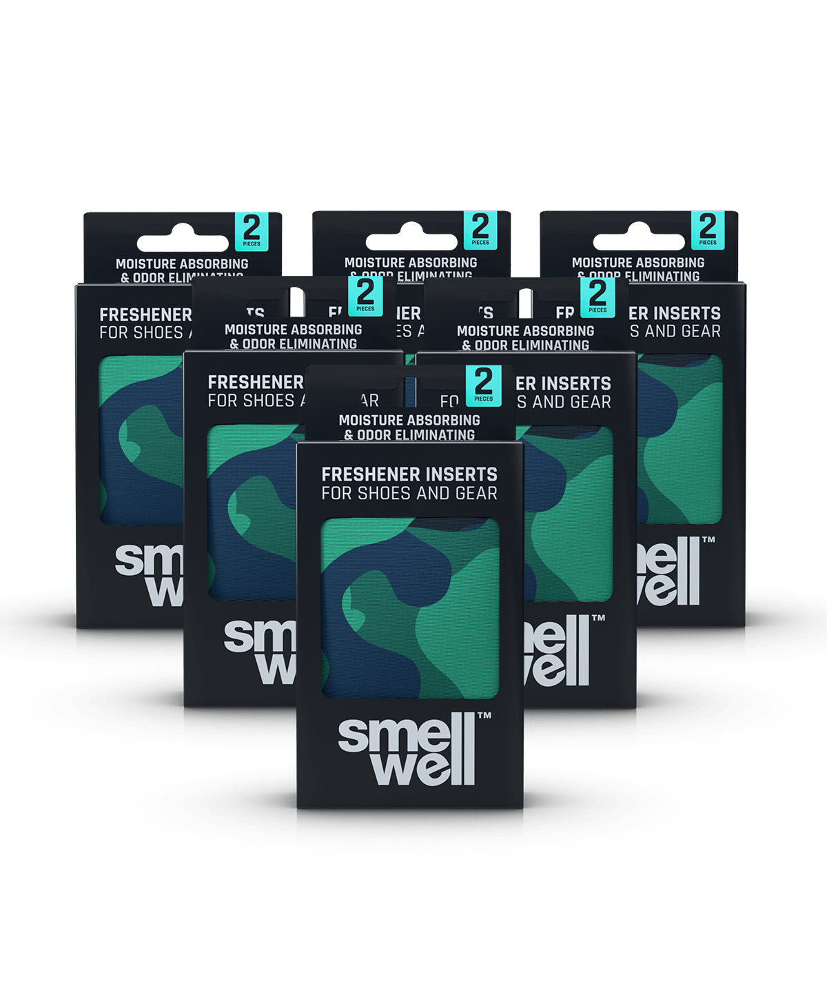 6 packages of SmellWell Active - Black Zebra