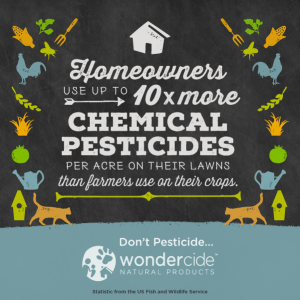 Homeowners Use 10x the Pesticides