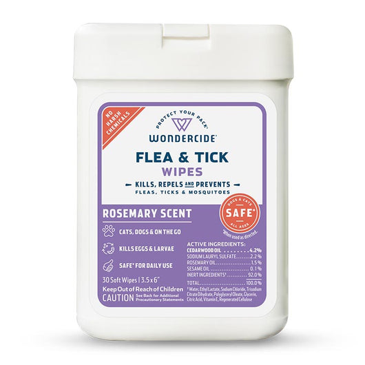 Rosemary Flea & Tick Wipes for Dogs + Cats