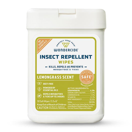 Lemongrass Insect Repellent Wipes for Kids + Family