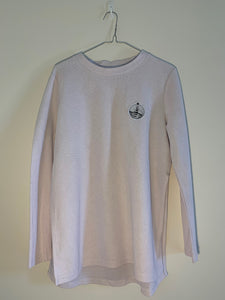 Women's white long sleeve top