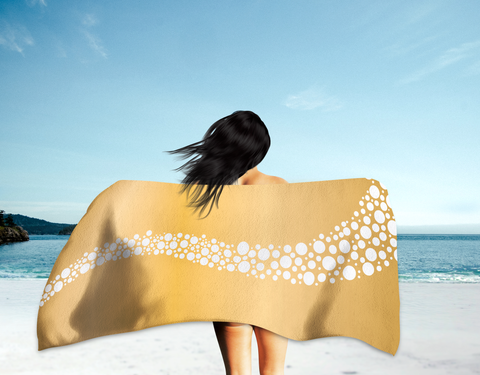 Beer Bubbles Summer Beach Towel