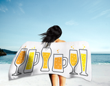 Beer Glass Styles Summer Beach Towel (Standard or Oversized)