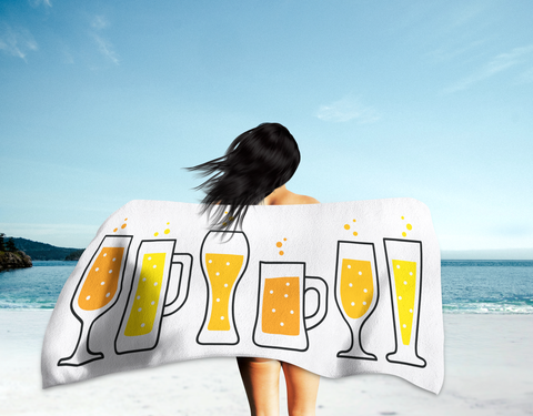 Beer Glass Styles Summer Beach Towel