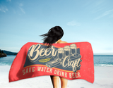 Save Water Drink Beer Summer Beach Towel (Standard or Oversized)