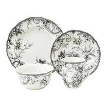 Load image into Gallery viewer, Adelaide Black 16 Piece Dinnerware Set