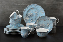Load image into Gallery viewer, Adelaide Light Blue 16 Piece Dinnerware Set