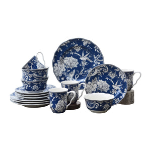 Adelaide Dark Blue 16 Piece Dinnerware Set