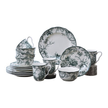 Load image into Gallery viewer, Adelaide Green 16 Piece Dinnerware Set