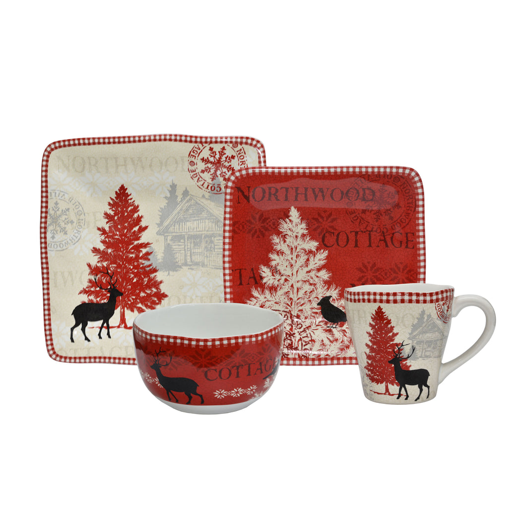 Northwood Cottage 16-piece Dinnerware Set