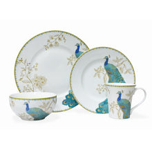 Load image into Gallery viewer, Peacock Garden 16 Piece Dinnerware Set