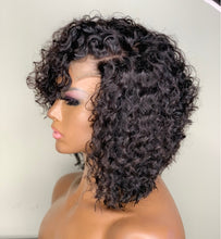 "Load image into Gallery viewer, Jade-14"" Deep curly Bob Lace Closure Wig"