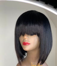 Load image into Gallery viewer, Julia-bob style human hair wig
