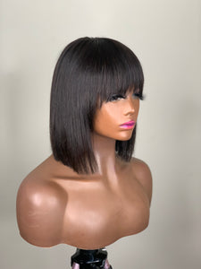 Queenie Lace closure Wig with Bangs