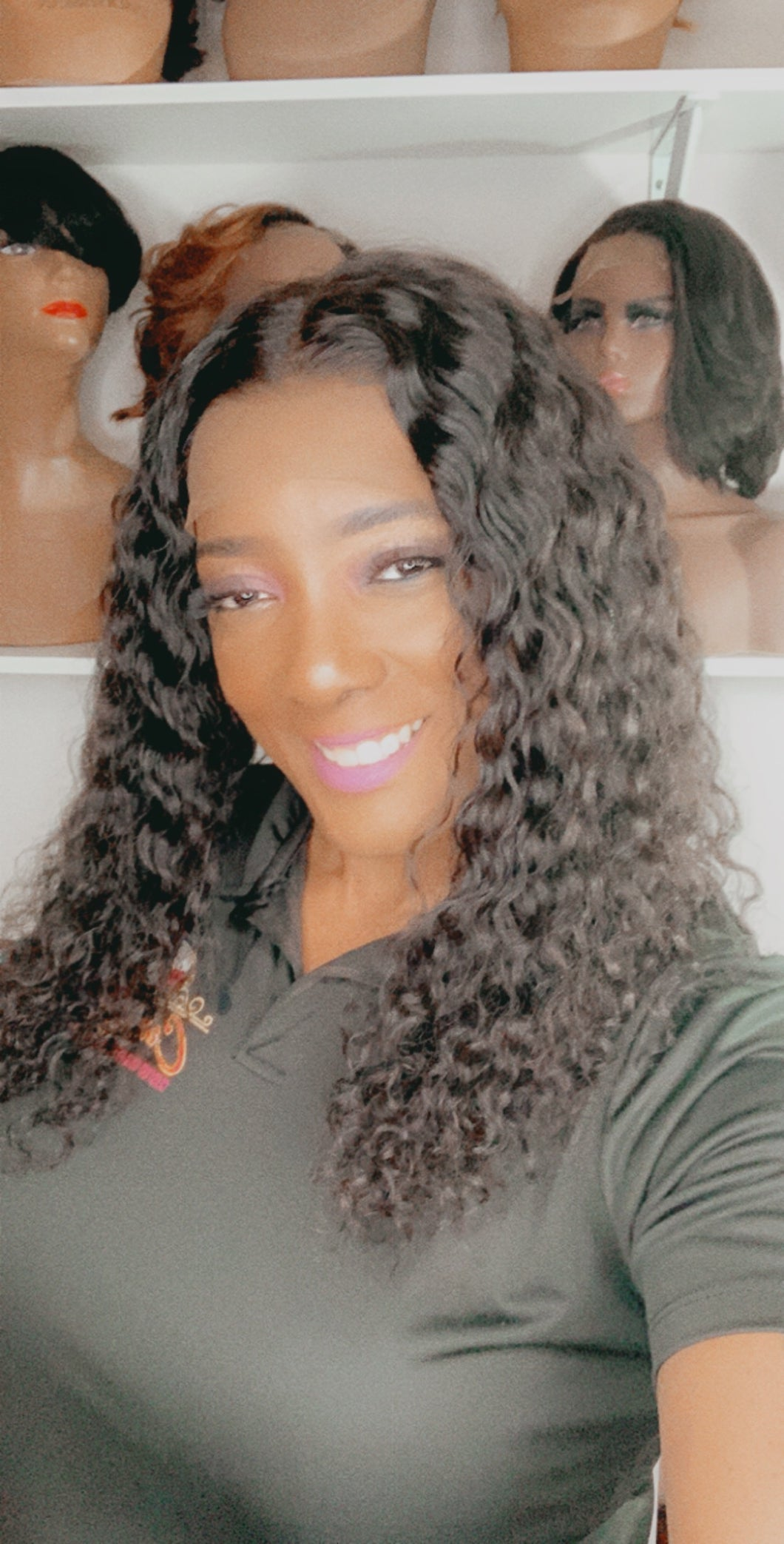Cantrice 16' Wet & Wavy Deep Curly Glueless Human Hair Lace Frontal