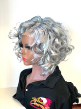 Load image into Gallery viewer, Lillie Lace closure human hair grey wig