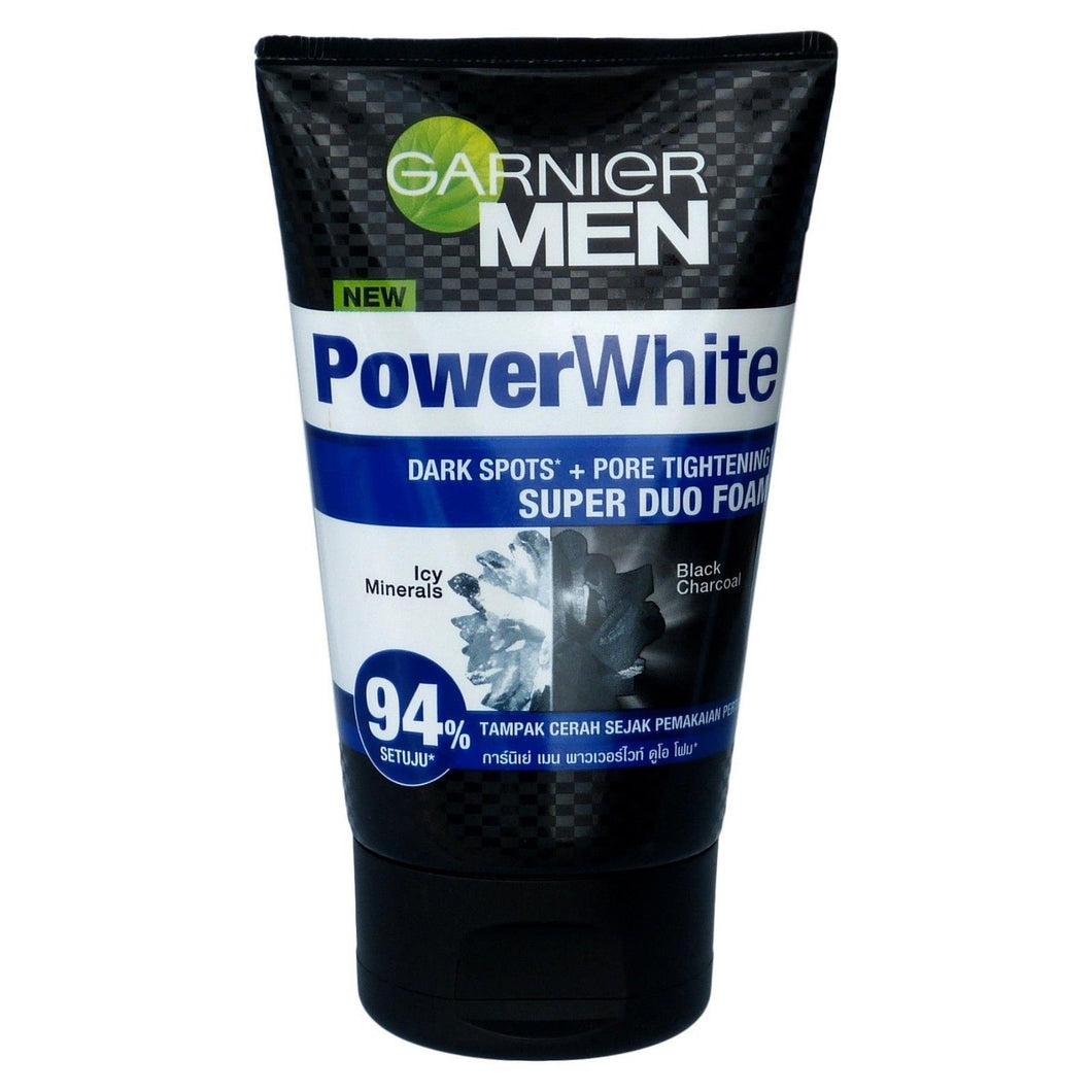 Garnier Men Powerwhite Super Duo Foam Icy Minerals and Charcoal Foam 100ml