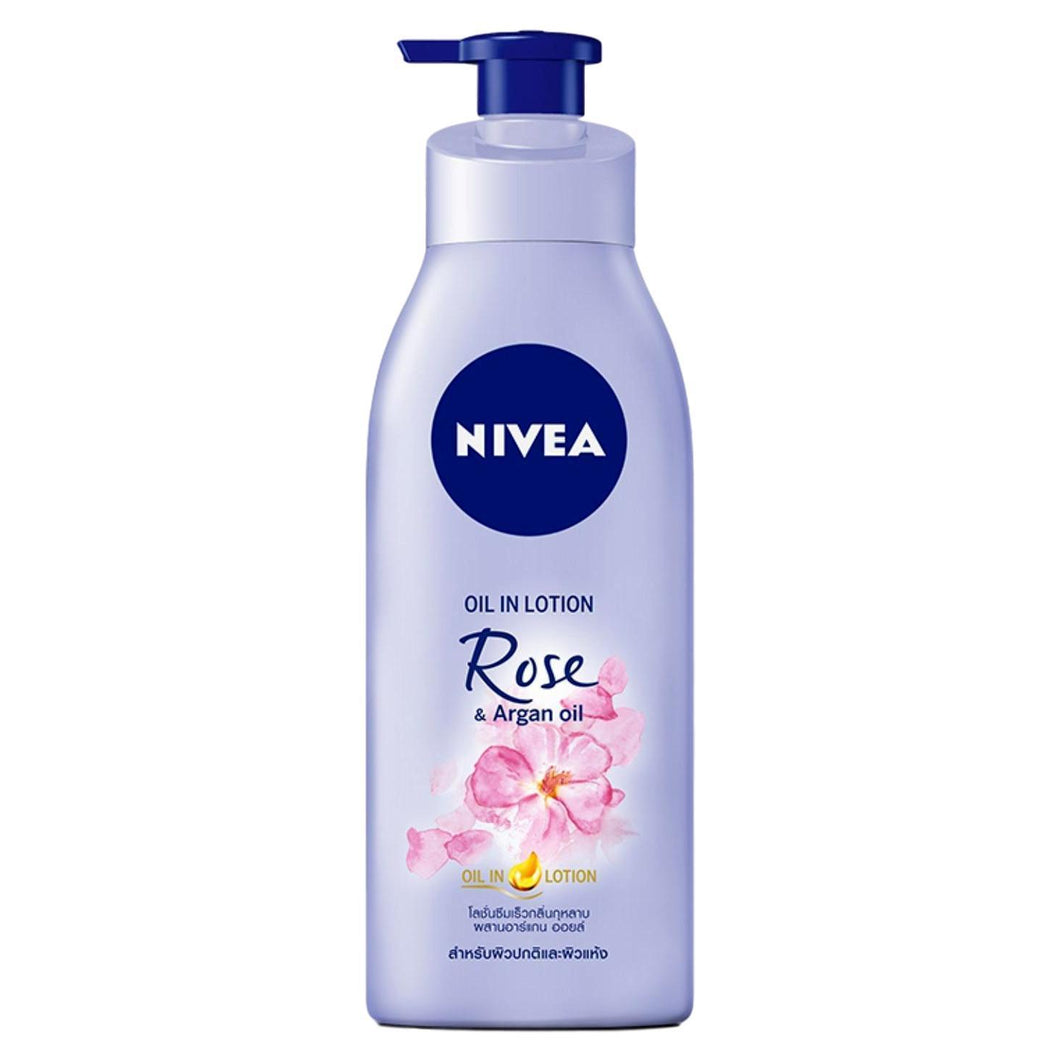 Nivea Oil in Lotion Rose and Argan Oil Body Lotion 400ml - Asian Beauty Supply