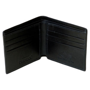 Genuine Stingray Skin Mens Wallet Slim Bifold Black with One Spine - Asian Beauty Supply