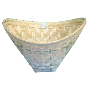 Thai Sticky Rice Cooker Bamboo Steamer Baskets Pack of 2 - Asian Beauty Supply