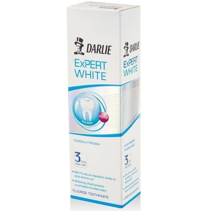 Darlie Expert White Scientifically Proven Whiter Teeth Fluoride Toothpaste 120g - Asian Beauty Supply