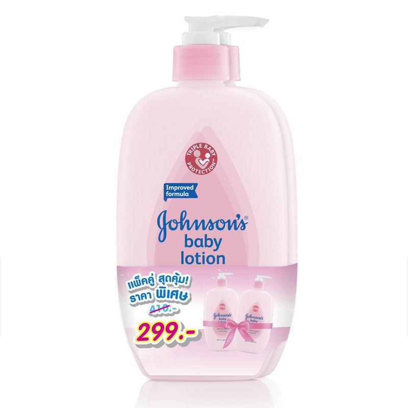 Johnson's Baby Lotion Improved Formula from Thailand 500ml Pack of 2 - Asian Beauty Supply