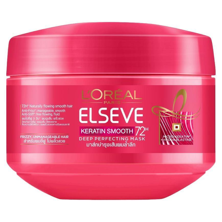 L'Oreal Paris Elseve Keratin Smooth Deep Perfecting Mask 200ml - Asian Beauty Supply
