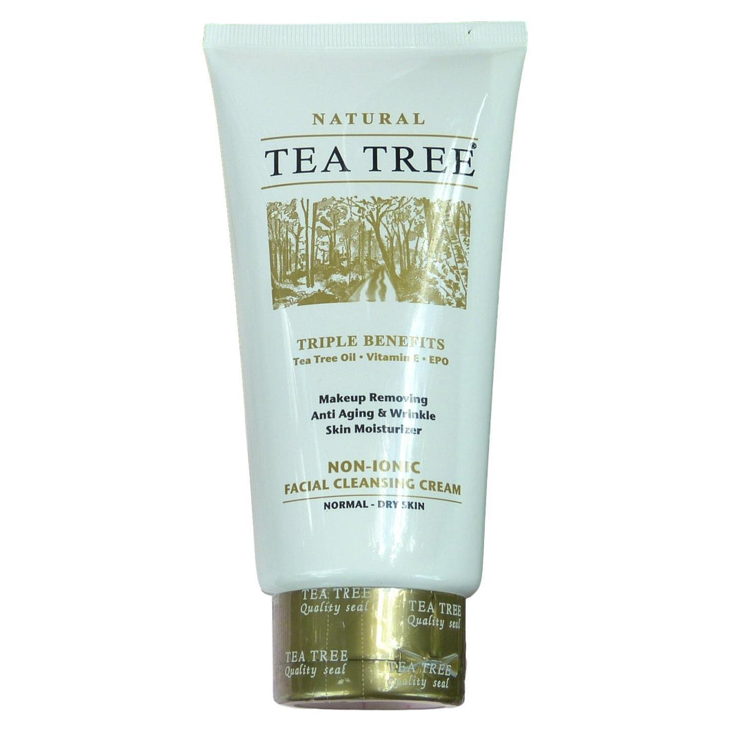 Tea Tree Natural Non Ionic Facial Cleansing Cream Makeup Remover 140ml - Asian Beauty Supply