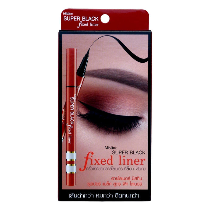 Mistine Super Black Fixed Liner Carbon Black Eyeliner 0.05mm