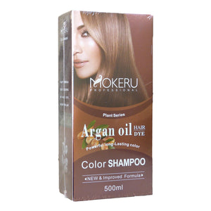 Mokeru Professional Argan Oil Hair Color Shampoo 500ml - Asian Beauty Supply