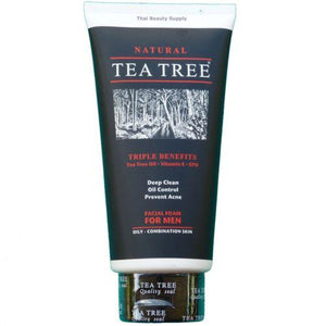 Tea Tree Natural Oil Control Facial Foam For Men Cleanser 140ml - Asian Beauty Supply