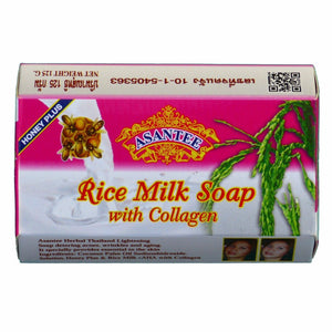 Asantee Rice Milk with Collagen and Honey Facial Soap Pack of 6 - Asian Beauty Supply