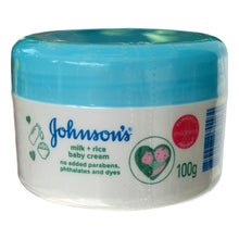 Load image into Gallery viewer, Johnson's Baby Milk and Rice Baby Cream 100 grams - Asian Beauty Supply
