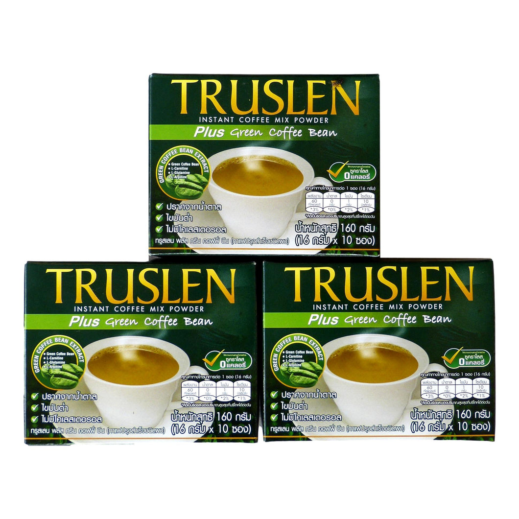 Truslen Plus Green Coffee Bean Instant Coffee Mix 30 Sachets - Asian Beauty Supply