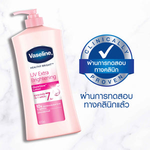 Vaseline Healthy Bright UV Extra Brightening White Body Lotion 600ml - Asian Beauty Supply