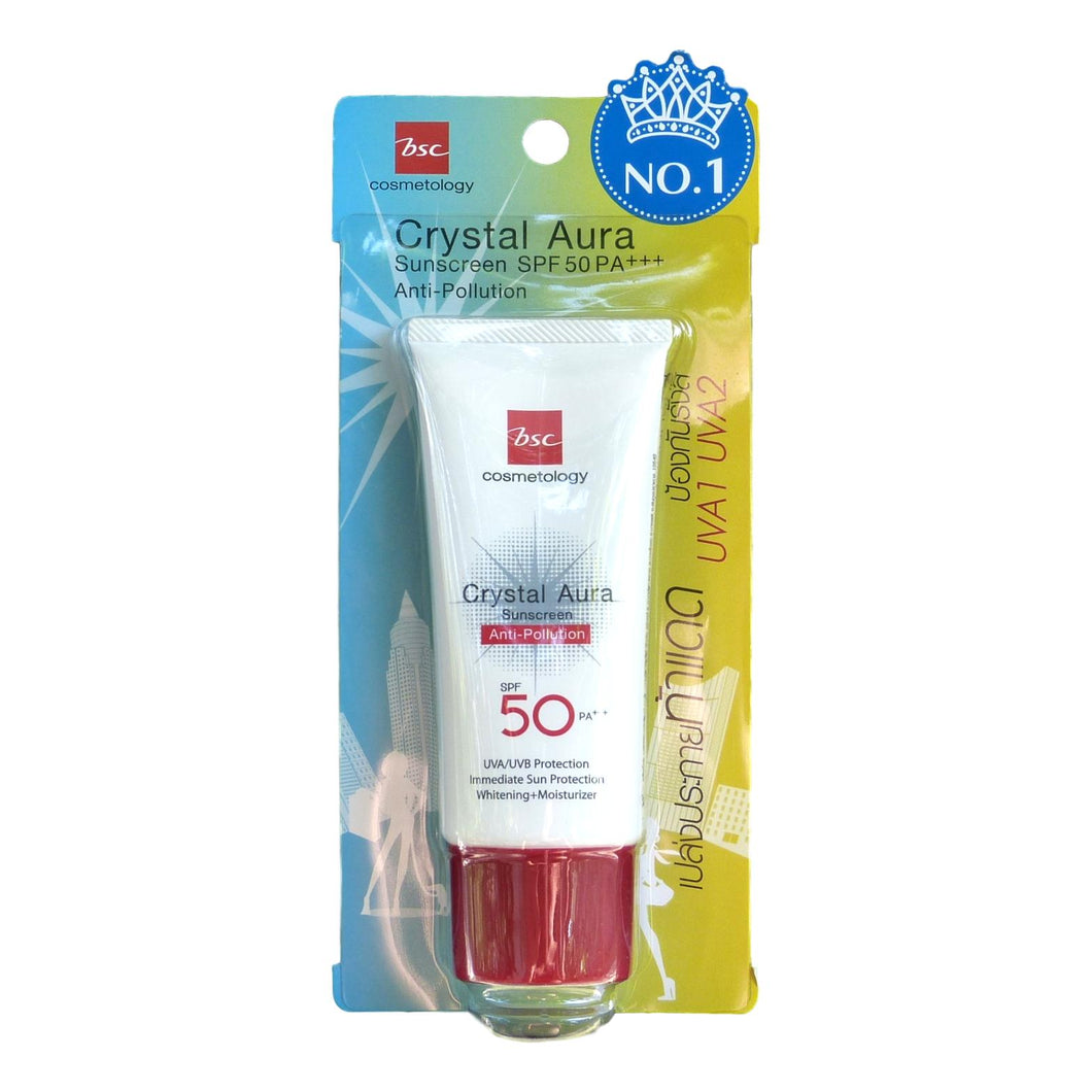 BSC Cosmetology Crystal Aura Anti Pollution Sunscreen SPF 50 - Asian Beauty Supply