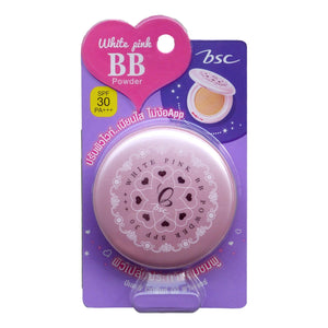 BSC Cosmetology White Pink BB Powder Foundation SPF 30 - Asian Beauty Supply