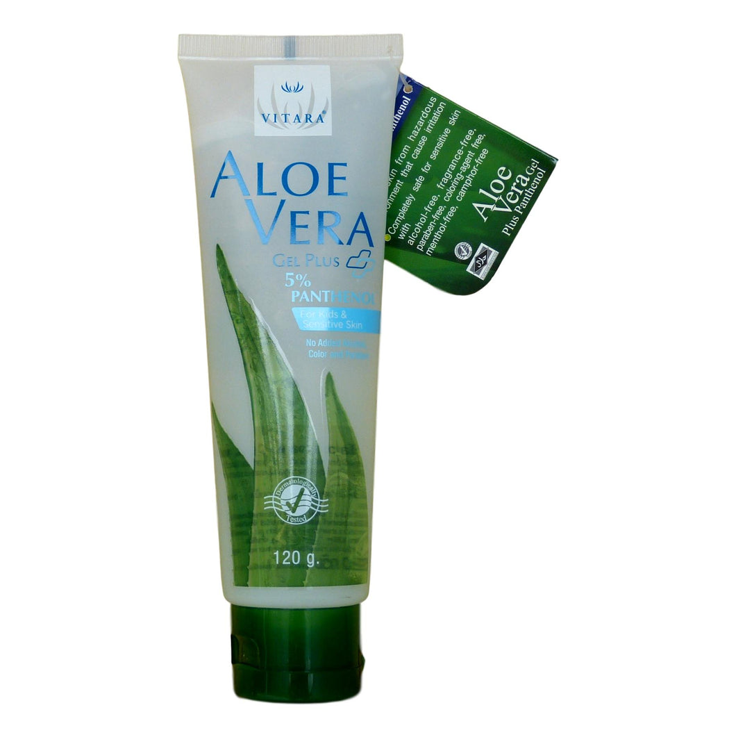 Vitara Aloe Vera Plus Panthenol Gel for Facial Sunburn 120 grams - Asian Beauty Supply
