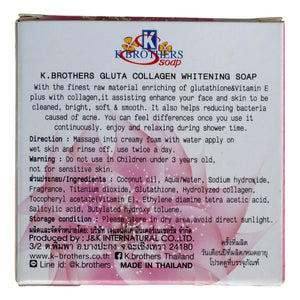 K. Brothers Gluta Collagen Whitening Soap 100g