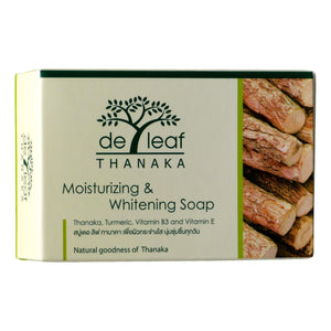 De Leaf Thanaka Moisturizing and Whitening Soap Pack of 4 - Asian Beauty Supply