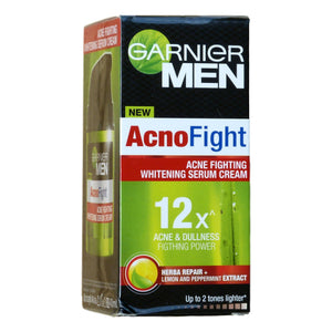 Garnier Men AcnoFight Acne Fighting Skin Whitening Serum Cream 40ml