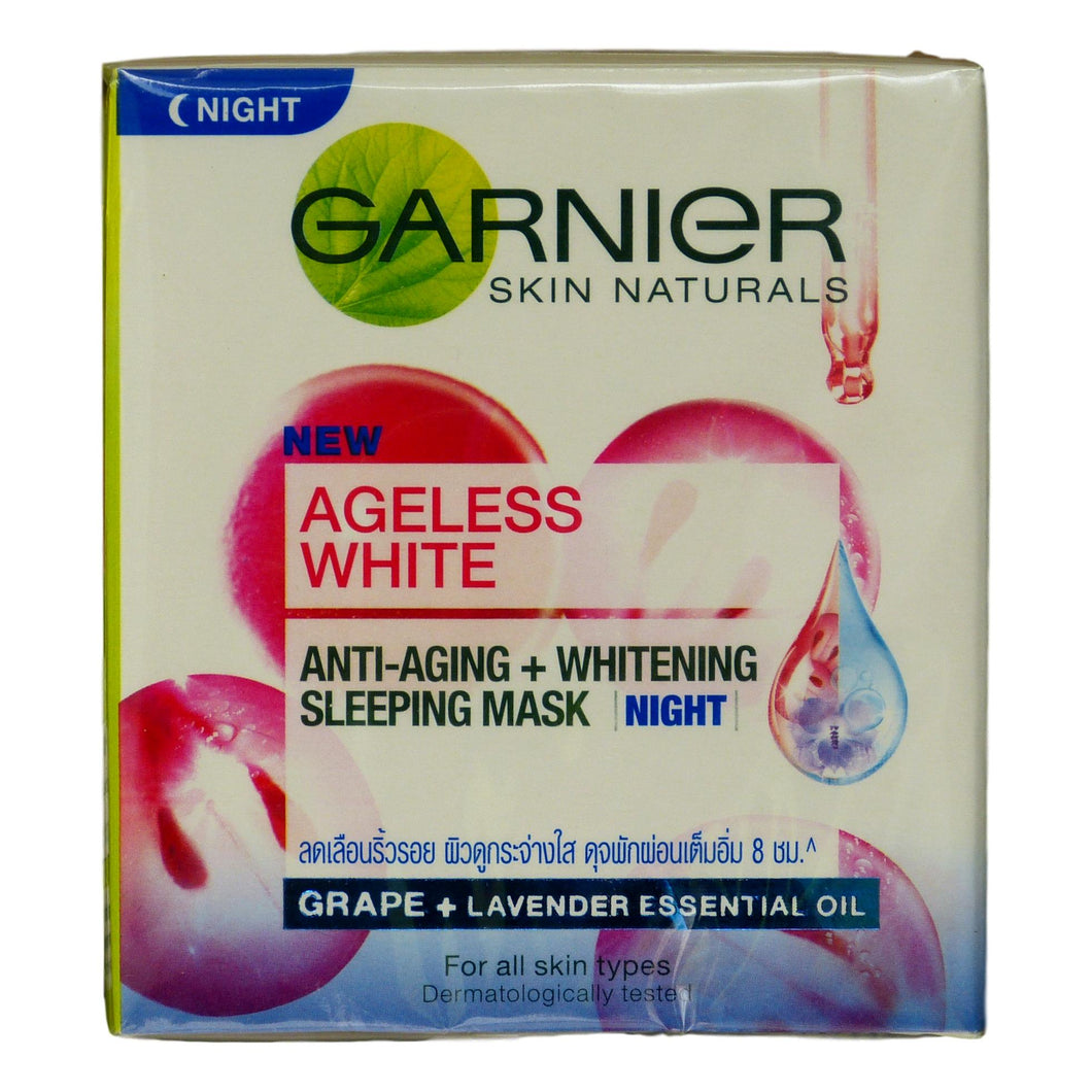Garnier Ageless White Anti Aging Skin Whitening Night Cream 50ml 1.7oz - Asian Beauty Supply