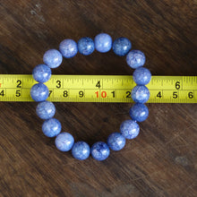 Load image into Gallery viewer, Blue Cracked Agate Bead Bracelet with 12mm Beads