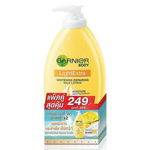Load image into Gallery viewer, Garnier Light Extra Skin Whitening Repairing Milk Body Lotion 400 ml Pack of 2