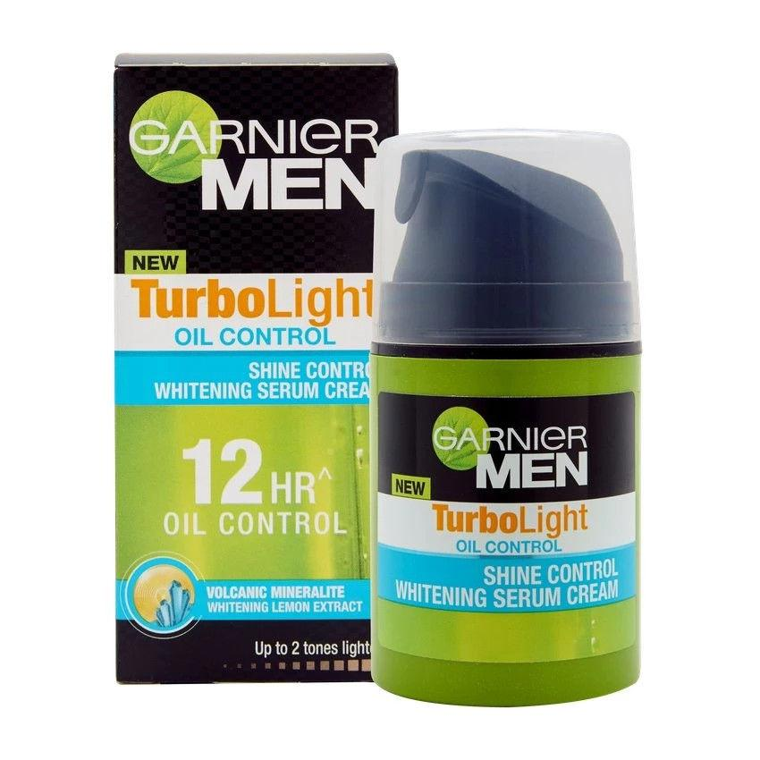 Garnier Men TurboLight OIL CONTROL Shine Control Whitening Serum Cream - Asian Beauty Supply