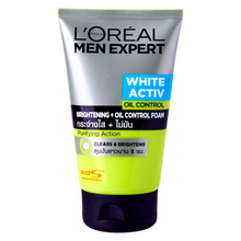 Load image into Gallery viewer, L'Oreal Men Expert White Activ Bright Oil Control Whitening Foam 100ml 3.4oz - Asian Beauty Supply