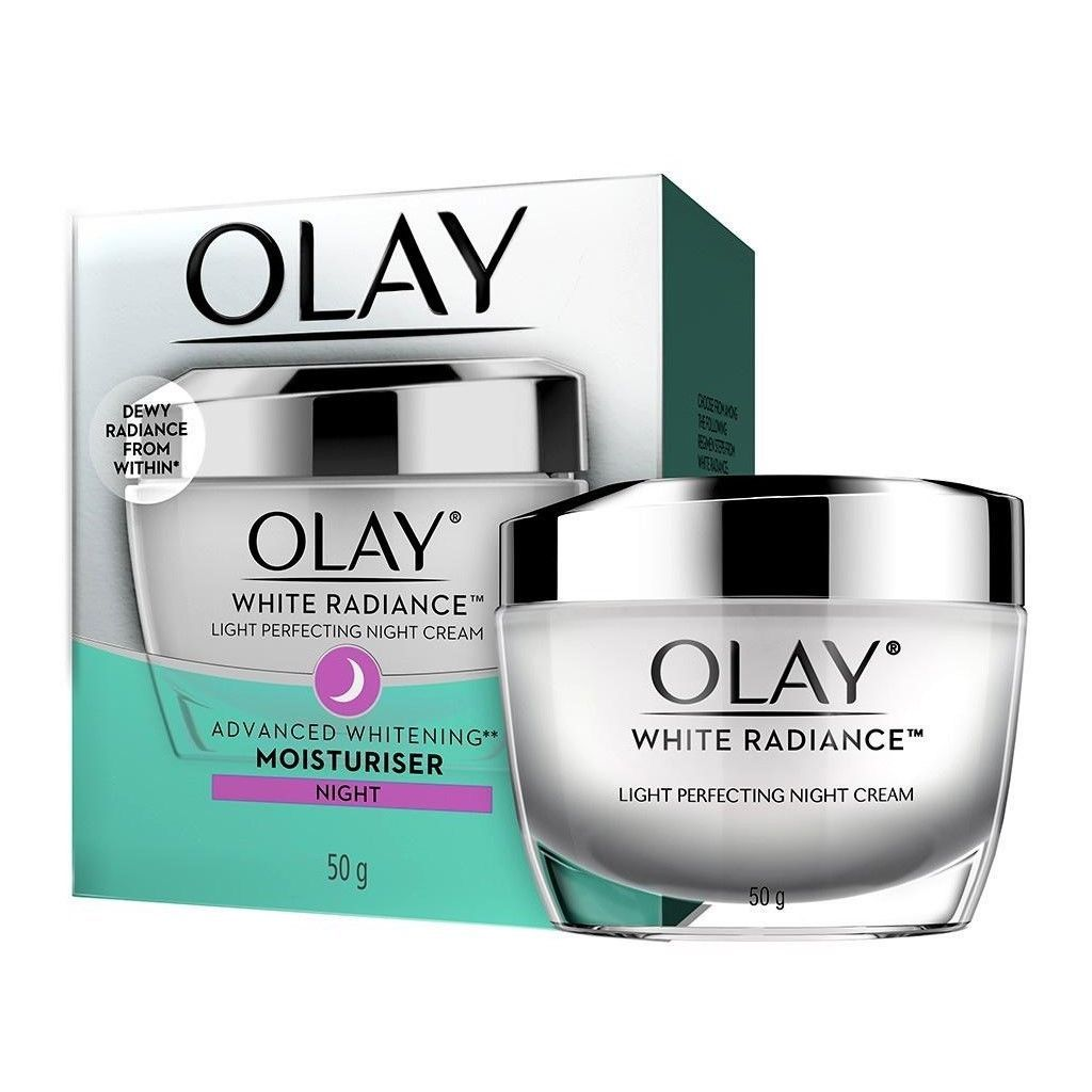 Olay White Radiance Light Perfecting Skin Whitening Night Cream 50 grams - Asian Beauty Supply